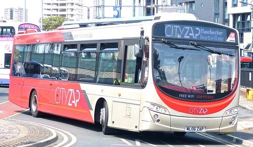 ML06 ZAP 'The Burnley Bus Company' No. 1871 'CITYZAP.' Volvo B7RLR / Wright Eclipse Urban 2 /3 on Dennis Basford's railsroadsrunways.blogspot.co.uk'
