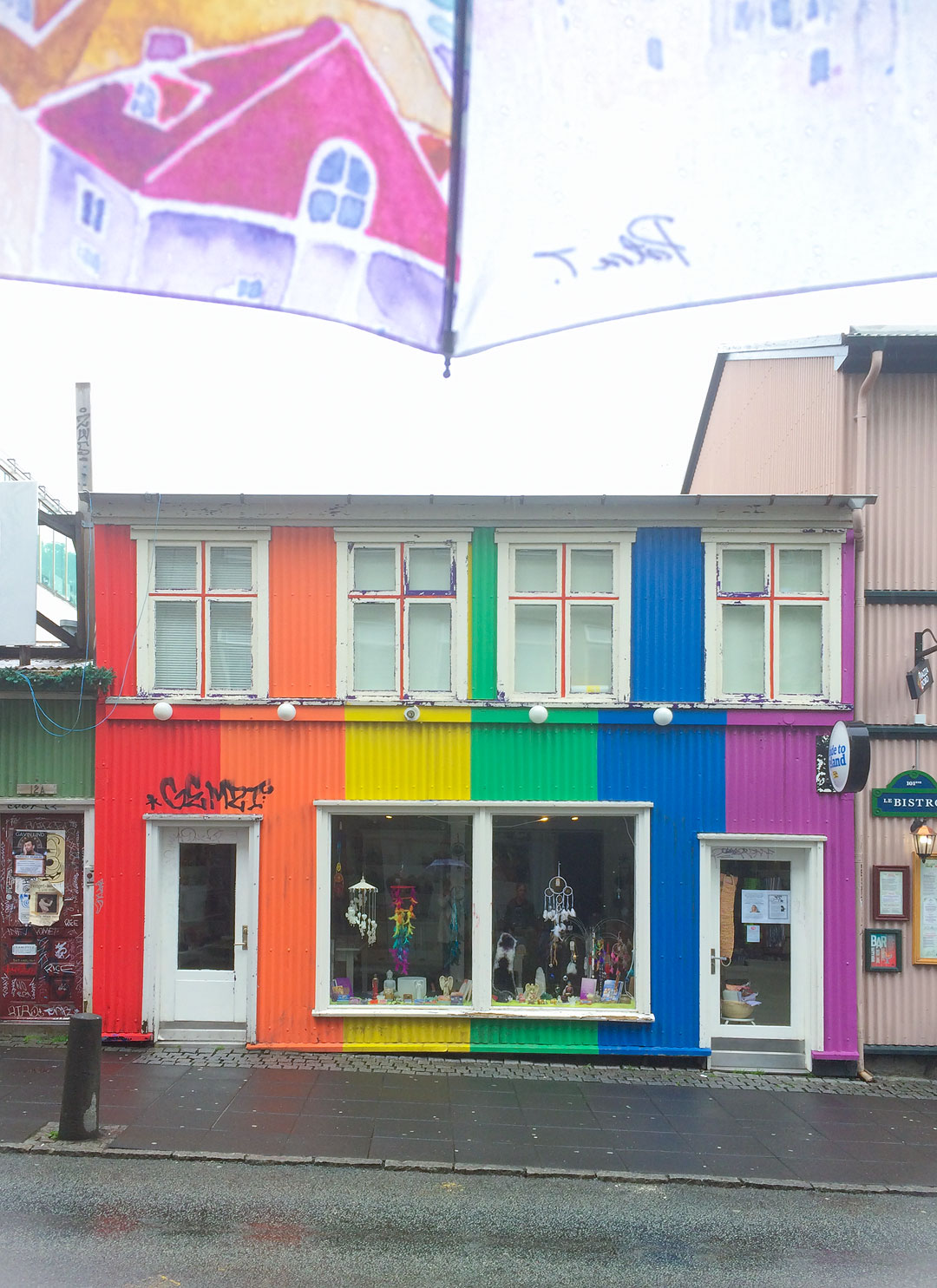 Rainbow house in Reykjavik