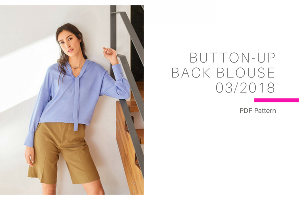 Button Up Back Blouse