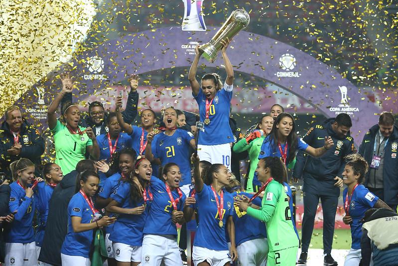 Seleção Brasileira Feminina campeã da Copa América do Chile
