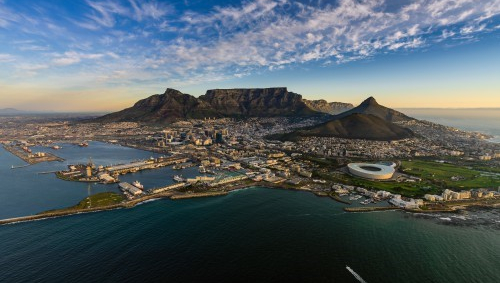 An image of a city in South Africa.