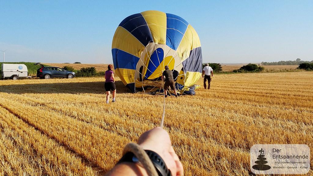Einpacken des Ballons