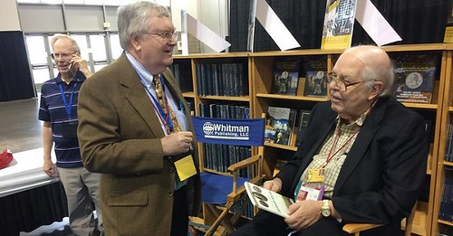 Bressett, Leonard and Bowers at Whitman Booth
