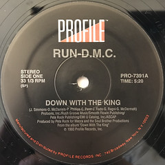 RUN DMC:DOWN WITH THE KING(LABEL SIDE-A)