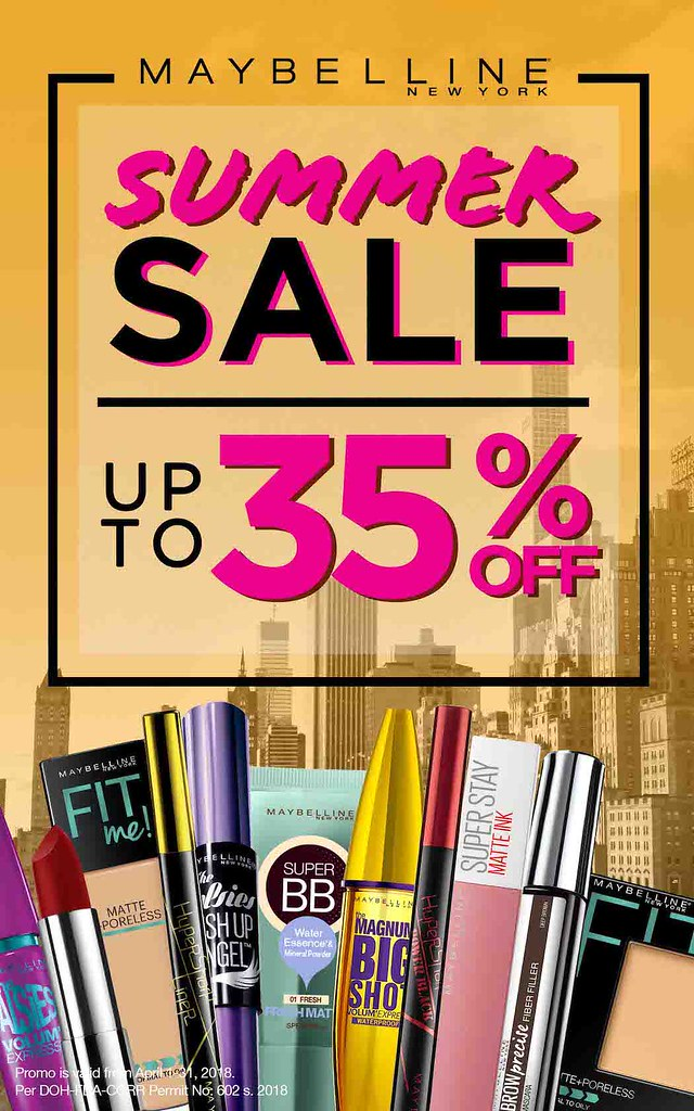 Maybelline's Sun-Proof Summer Sale
