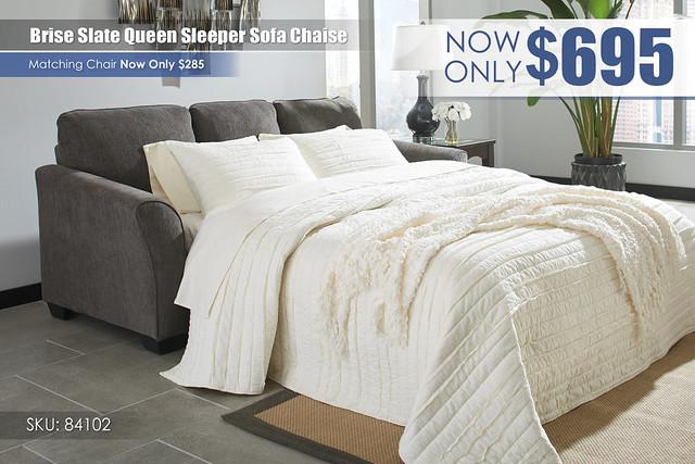 Brise Slate Sleeper Sofa Chaise_84102-68
