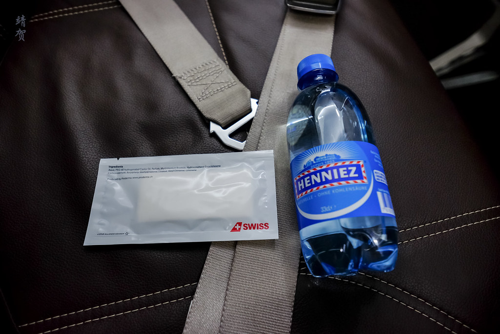 Bottled water and wet wipes