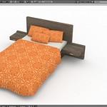 Modern Bed Blender 3D