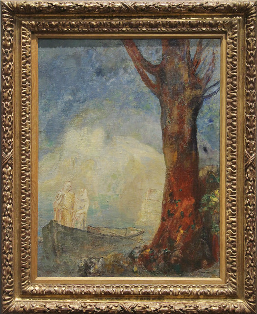 The Barque, Odilon Redon, c.1900