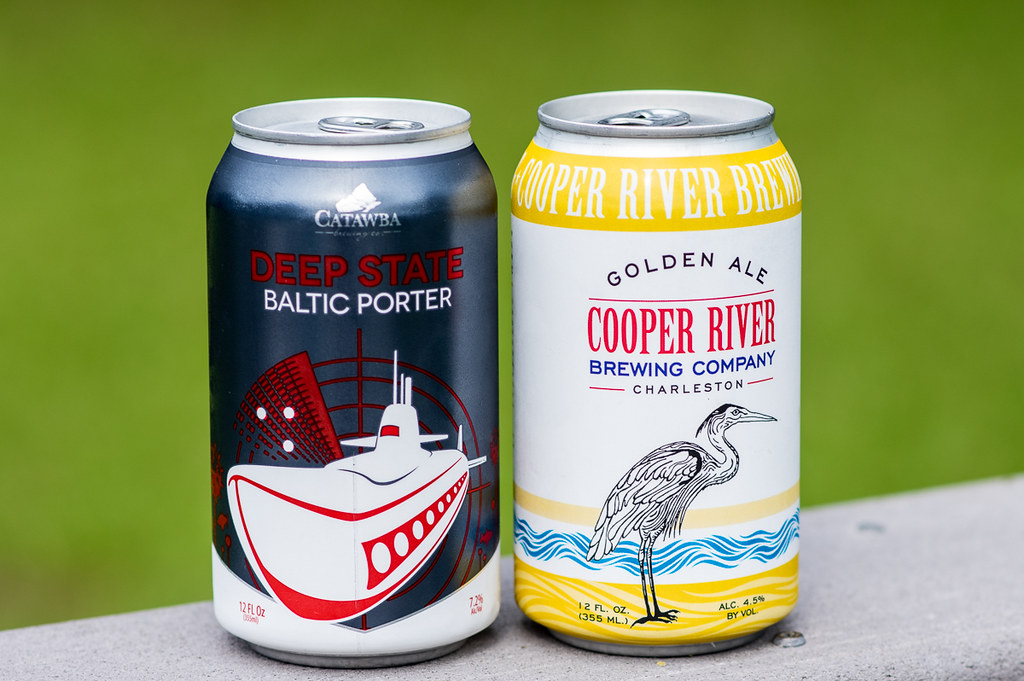 Catawba Deep State Baltic Porter and Cooper River Golden Ale