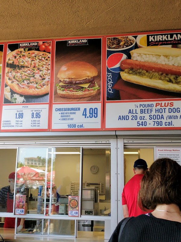 Costco Burger menu