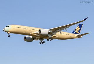 F-WZHI Airbus A350 Singapore