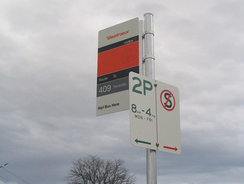 Edgewater (Maribyrnong) bus stop, July 2008