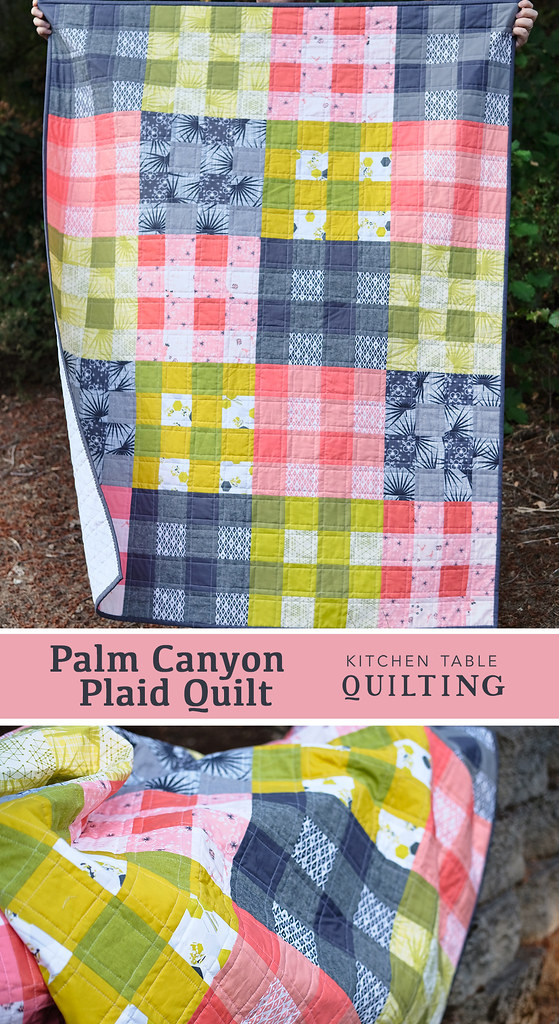 Palm Canyon Plaid Quilt - Kitchen Table Quilting