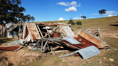 Fallen shed