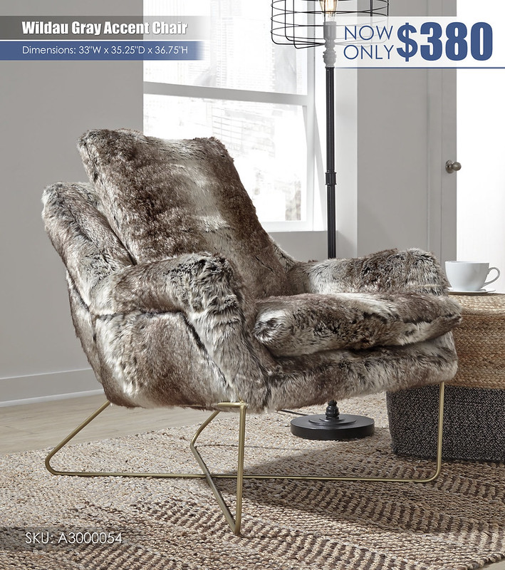 Wildau Gray Accent Chair_A3000054