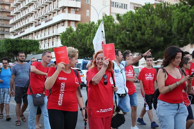 18-07-2018 Partenza per la salita (acchianata) al Monte Pellegrino