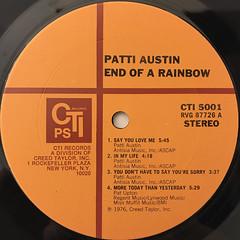PATTI AUSTIN:END OF A RAINBOW(LABEL SIDE-A)