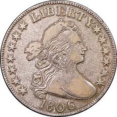 1806 Half Dollar O-108 Obverse