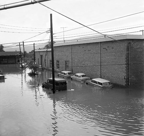 1962 Flood at Water Street in Peekskill