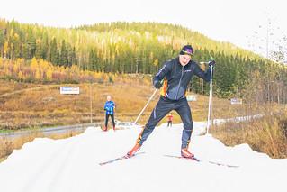 skier in the autumn in Tahko