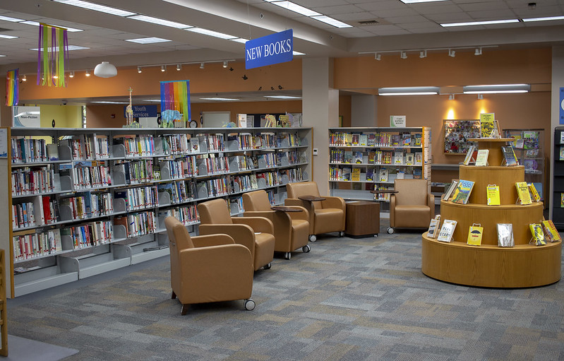 New books and seating