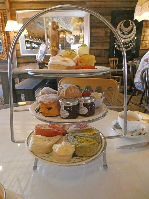 Afternoon tea at The Crazy Bear Farm Shop