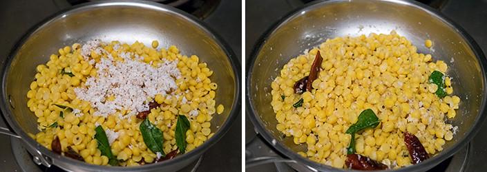 Kadalai Paruppu Sundal cooking steps by GoSpicy.net