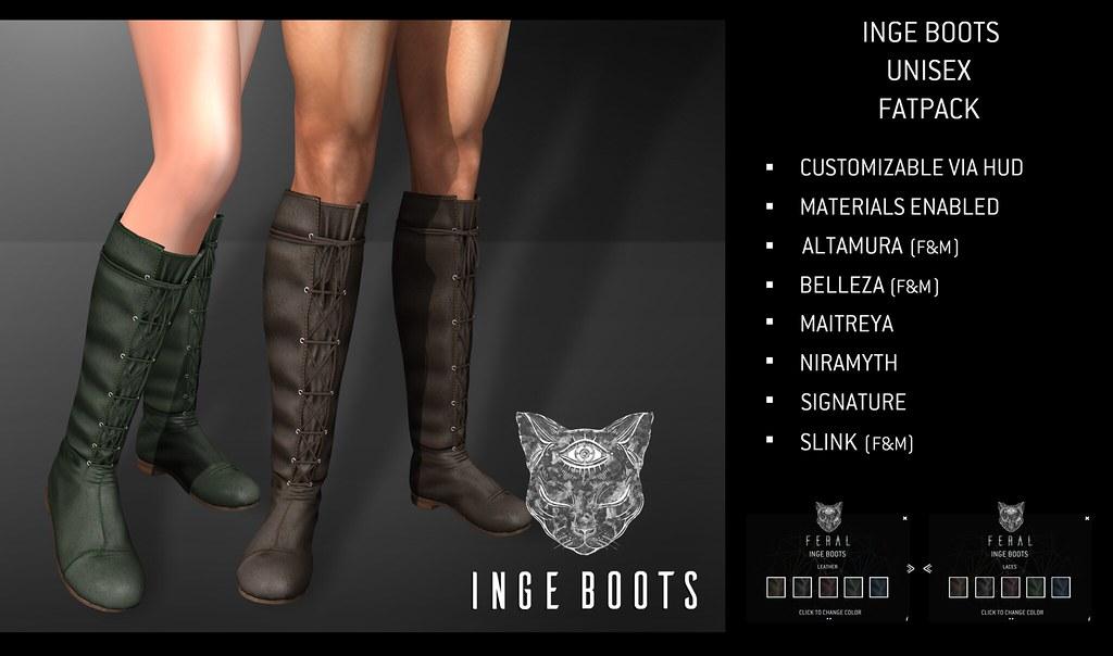 Feral - Inge Boots - TeleportHub.com Live!