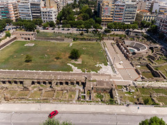Roman forum and ancient Agora in Thessaloniki
