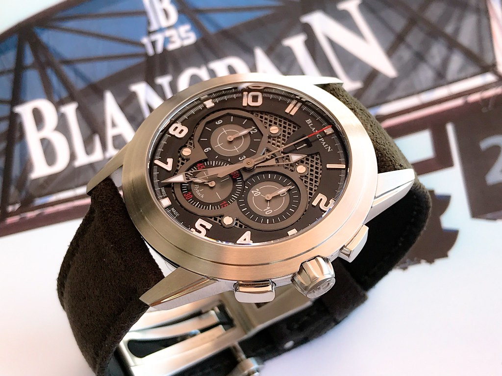 Blancpain L'Evolution Chronographe Flyback, L'Evolution Chronographe Flyback Ref 560STC-11B30-52B, L'Evolution R Grande Date Ref R10-1103-53B