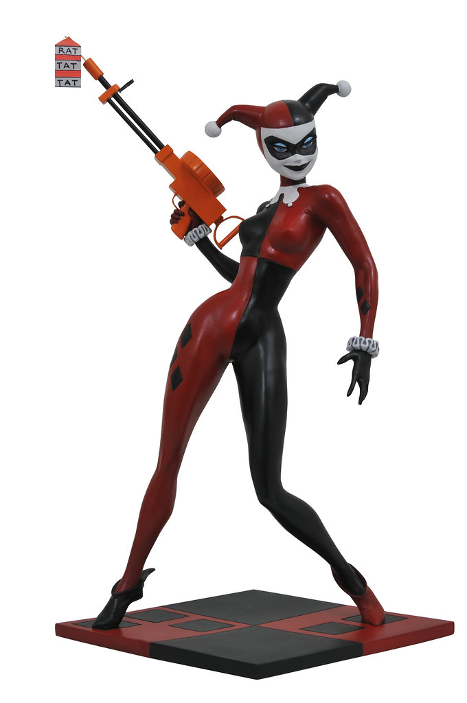 經典的動畫形象,小丑女狡猾現身~~ Diamond Select Toys《蝙蝠俠:動畫系列》哈莉·奎茵 Batman: The Animated Series Premier Collection Harley Quinn 全身雕像作品