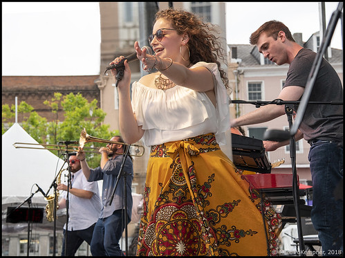 Crooked Vine on Day 4 of French Quarter Fest - 4.15.18. Photo by Marc PoKempner.