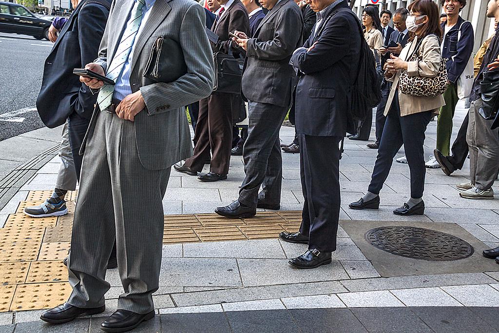 Salarymen in Nihombashi--Tokyo
