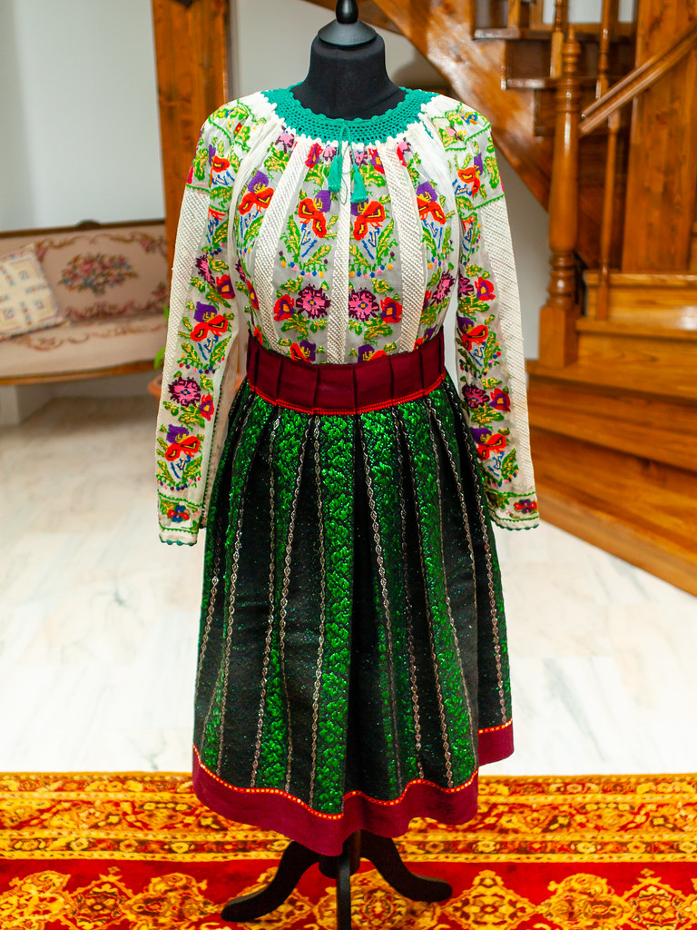 A traditional Romanian costume