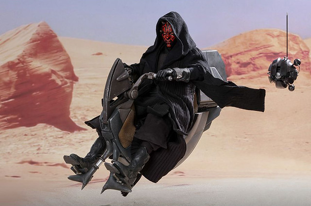 Hot Toys Darth Maul with Sith Speeder Sixth Scale Collectible Figure - Star Wars Episode I: The Phantom Menace