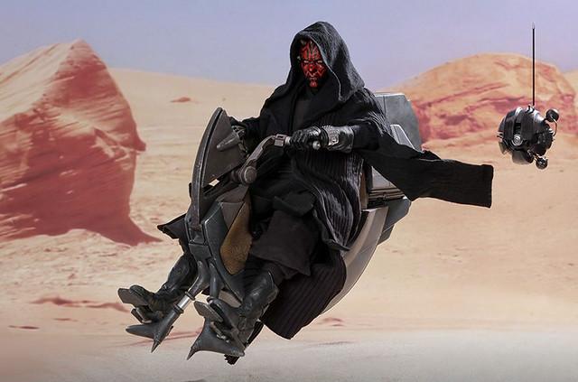 Hot Toys – DX17 –《星際大戰首部曲:威脅潛伏》達斯·魔&Sith Speeder Darth Maul with Sith Speeder 1/6 比例人偶作品