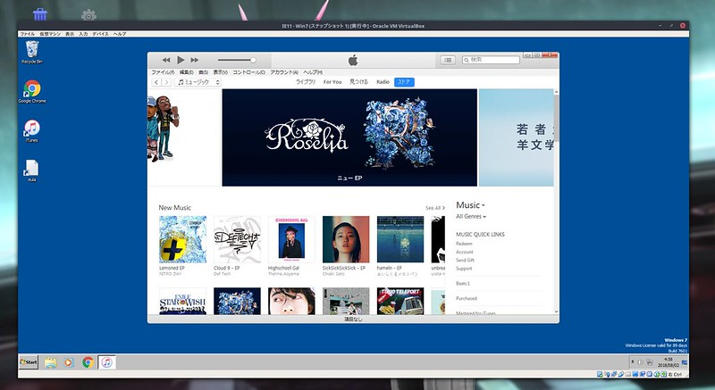 iTunes on Linux Mint