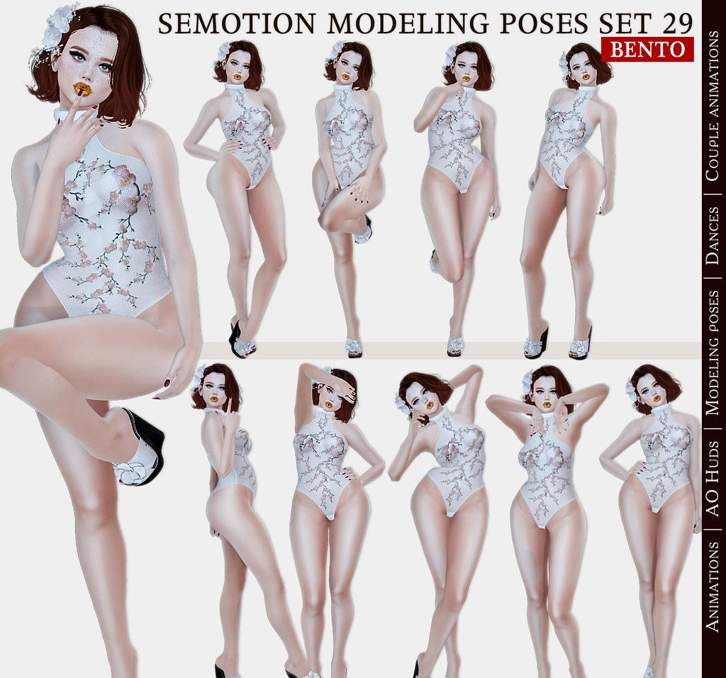 SEmotion Female Bento Modeling poses Set 29