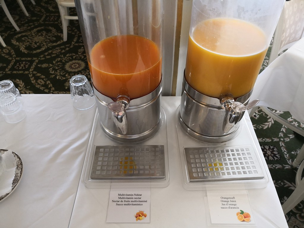 Juices on the buffet