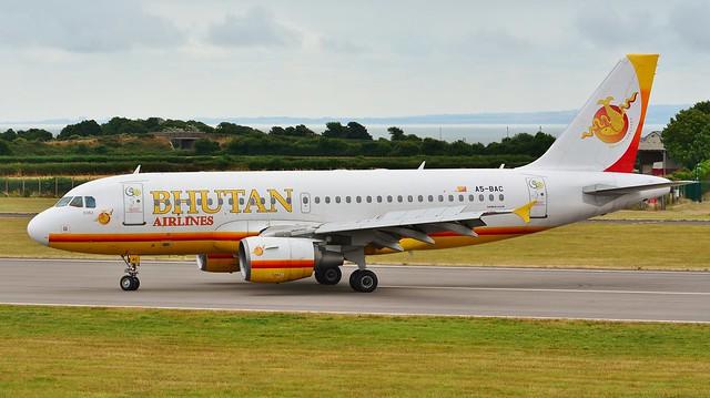 Airbus A319 A5-BAC Bhutan Airlines