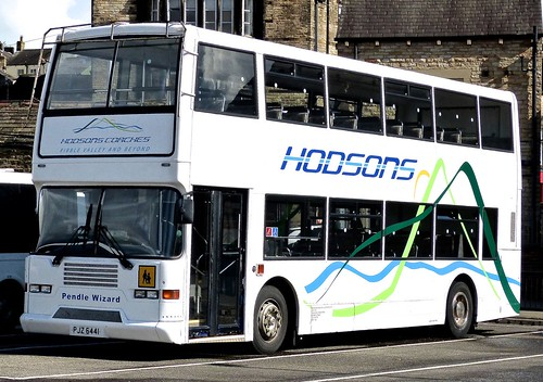 PJZ 6441 'Hodsons Coaches', Clitheroe. Volvo Olympian / East Lancs on 'Dennis Basfords's railsroadsrunways.blogspot.co.uk'