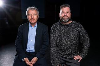 Playwright Bernard Weinraub and director Peter DuBois