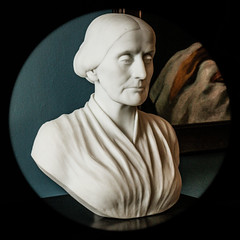 Bust of Susan B. Anthony, pioneer 19th Century American suffragist