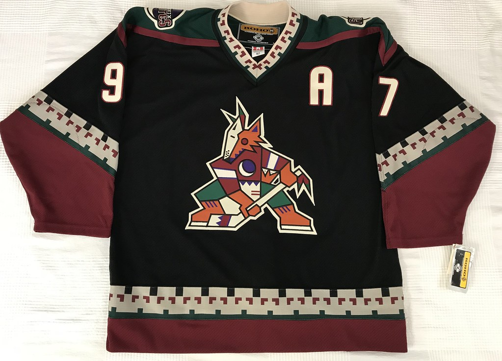 2000-01 Jeremy Roenick Phoenix Coyotes Away Jersey Front
