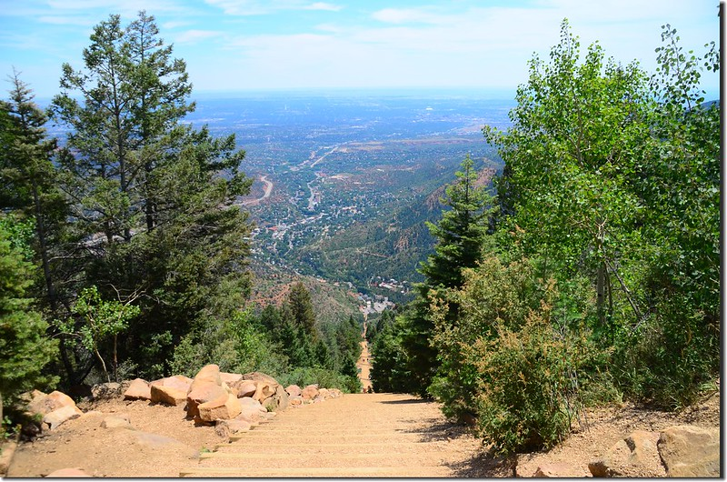 View of Colorado Springs from the top of the Manitou Incline