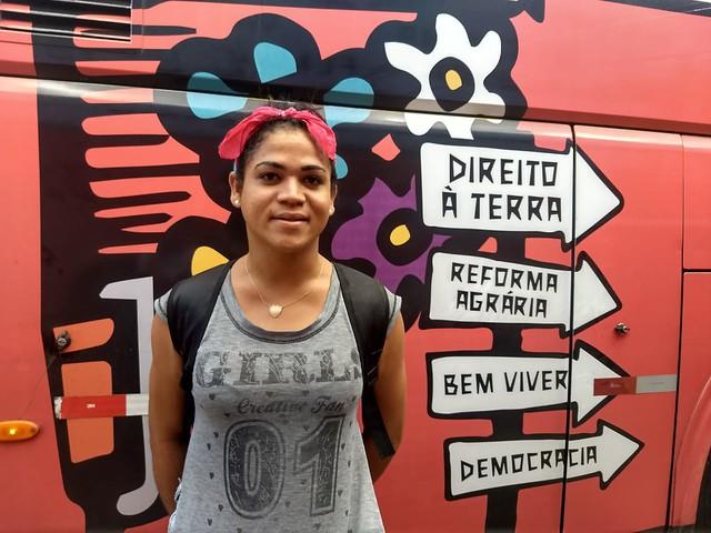 Rostos da Caravana: Soraya, mulher transexual, feminista e LGBT Sem Terra
