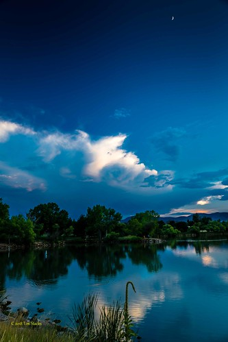 clouds colorado kendricklake lakewood landscape outdoors sky sunset usa water