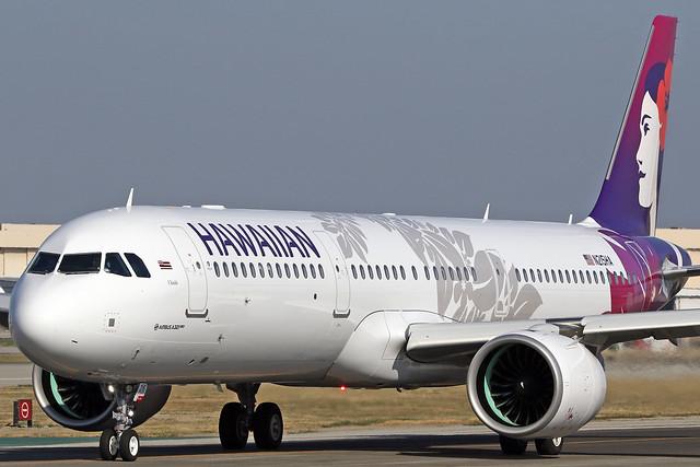 "Hawaiian Airlines Airbus A321-271N (c/n 8266) N215HA ""Uhiuhi"""