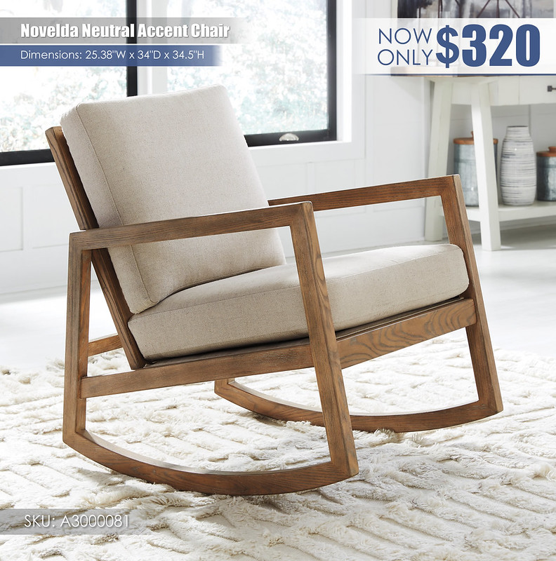 Novelda Neutral Accent Chair)A3000081
